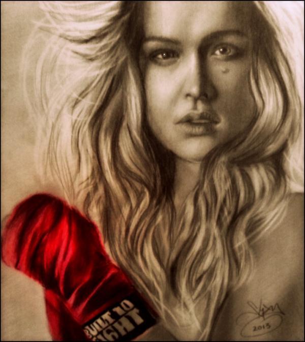 Ronda Rousey by yamilaalmara